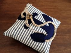 Ring bearer pillow nautical rope anchor by EandAHeritage on Etsy, $65.00