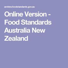 Online Version - Food Standards Australia New Zealand