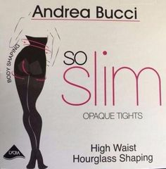 8d5469c16052f Andrea Bucci So Slim! 100 Denier Matt High Waist Hourglass Shaping Tights