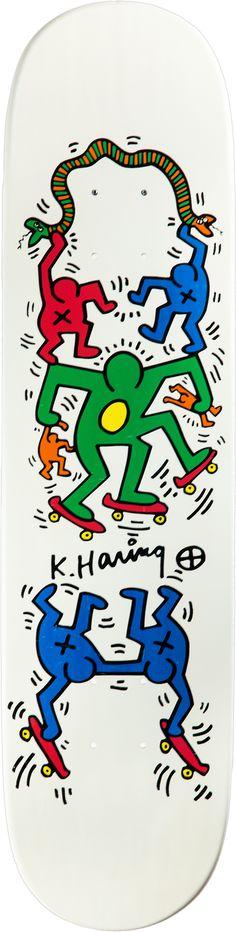 Keith Haring skateboard #skatedeck #skateboard #art #streetart