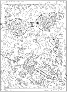 Welcome to dover publications ch fanciful sea life mandala livres colorier Free Adult Coloring, Adult Coloring Book Pages, Printable Adult Coloring Pages, Cute Coloring Pages, Doodle Coloring, Animal Coloring Pages, Mandala Coloring, Coloring Books, Mandalas Drawing