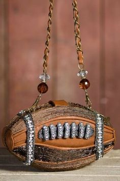 It's a Football Shaped Purse! Mary Frances Purses, Mary Frances Handbags, Unique Purses, Unique Bags, Tote Handbags, Purses And Handbags, Novelty Bags, Hip Bag, Types Of Bag