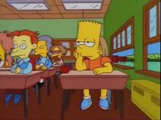 Yo en el colegio Cartoon Memes, Cartoon Shows, Cartoon Characters, Funny Memes, Cartoons, Simpson Wave, Emoji Wallpaper, Music Covers, The Simpsons