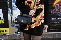 valentino knit jumper dress chloe georgia bag