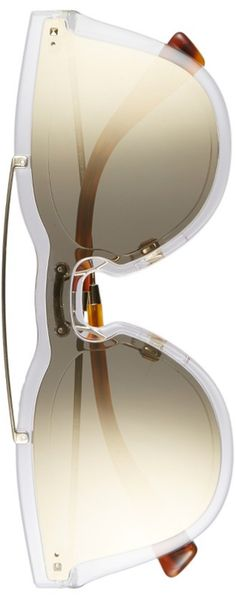 VALENTINO 48mm Retro Sunglasses Mirror Light Gold/Light Gold