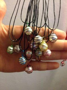 Swarovski pearls with zebra copper wire