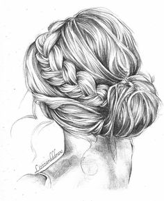 back view of a person drawing drawing art hair girl people female