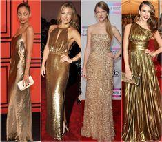 Drops de Moda | Esmaltes para usar com vestido dourado