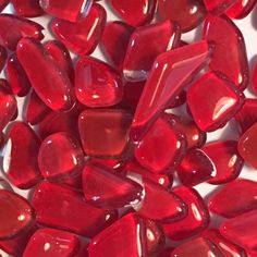 Glassteen,Mozaïek, rood