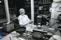 """By Lucie Rie  """"To make pottery is an adventure to me, every new work is a new beginning""""."""