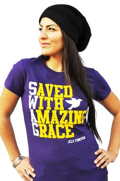 015-WOMEN-SHIRT-SWAG-PURPLE-Christian T-Shirt