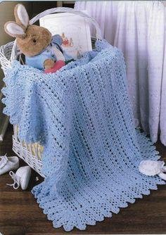 5 X Baby Blanket CROCHET Pattern Afghan Blanket Crochet | Etsy Afghan Patterns, Baby Patterns, Baby Knitting, Vogue Knitting, Crochet Baby Blanket Free Pattern, Free Crochet, Baby Afghans, Crocheted Afghans, Baby Blankets