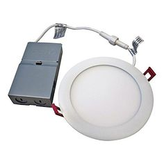"Lithonia Lighting WF6 LED 30K MW M6 13W Ultra Thin 6"" Dimmable LED Recessed Ceiling Light, 3000K, White #Lithonia #Lighting #Ultra #Thin #Dimmable #Recessed #Ceiling #Light, #White"