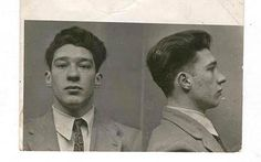 Ronnie Kray's mugshot from the late 1940s