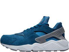 Nike Air Huarache heren sneaker. Blauw. Laag model.