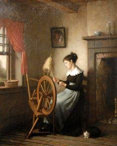 Platt Powell Ryder - Woman at Spinning Wheel