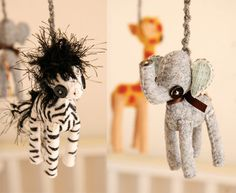 mobile by Skunkboy Creatures - - Oh my! I love the elephant!