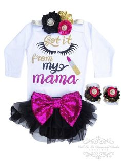 Baby Girl Shirts, Shirts For Girls, Girls Boutique, Baby Boutique, Baby E, Baby Kids, Cute Baby Clothes, Babies Clothes, Children Clothes