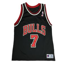 Vintage Champion Chicago Bulls Toni Kukoč Jersey. Large. Vintage Champion, Chicago Bulls, Usa, Sports, Tops, Products, Fashion, Hs Sports, Moda