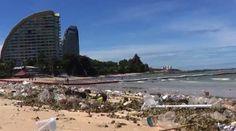 """PATTAYA: Touristen und Hoteliers beklagen sich bitter über den Unrat am Wong-Amat-Strand. Die von """"Manager Online"""" im Internet veröffentlichten ... Manager, Pattaya, Strand, Thailand, Internet, Beach, Water, Outdoor, Gripe Water"""