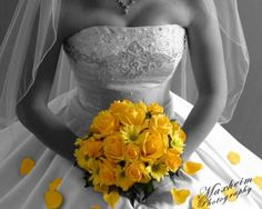 Love this for a picture idea. All black and white except for colored flowers
