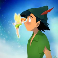 Rain (Pokeshipping week by on DeviantArt Ash and Misty in Peter Pan 2 by Pokemon Ash And Misty, Ash Pokemon, Pokemon People, Cool Pokemon, Pikachu, Ash And May, List Of Characters, Fandom Crossover, Pokemon Pictures