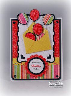 Paper Pastimes of a Scrapbooking Mimi: Elegant Edges Cricut Cartridge Hand Made Greeting Cards, Making Greeting Cards, Scrapbook Cards, Scrapbooking, Scrapbook Layouts, Hanukkah Cards, Birthday Packages, Happy Birthday Balloons, Cricut Cards