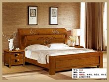 Cheap wood double bed designs with box