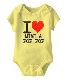 Banana 'I Love Mimi & Pop Pop' Bodysuit - Infant