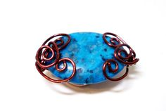 Magnetic Shawl Pin Magnetic Scarf Pin Blue Jasper by simplysuzie2, $25.00