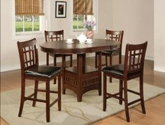 5PC Counter Height Table and Chairs Set -- Want additional info? Click on the image.