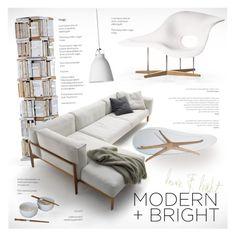 Modern&Bright by nyrvelli on Polyvore featuring interior, interiors, interior design, home, home decor, interior decorating, Vitra, Opinion Ciatti, Lightyears and modern