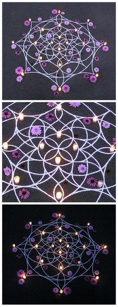 whitney krueger earthereal divine design art rangoli kolam flow feminine geometry light