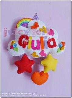 Juicy felt: Un fiocco nascita pieno di colori per Giulia