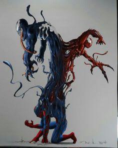 Venom, Carnage, and Spider-Man