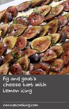 Fig and goat's cheese tart with lemon icing | Serve this delicious fig and goat's cheese tart by chef Yotam Ottolenghi for afternoon tea, or with ice-cream for dessert. The yeasted pastry in this recipe can be replaced with a sheet of commercial all-butter puff pastry of similar dimensions.