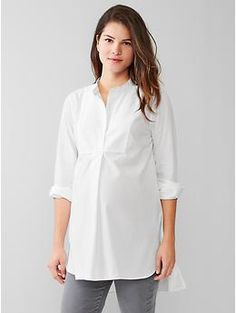 Perfect pregnancy staple, Tunic popover shirt