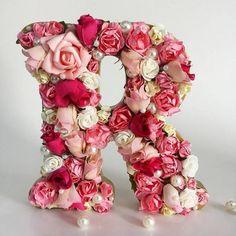 ბროში-მონოგრამები Smoker Cooking meat smoker near me Flower Crafts, Diy Flowers, Paper Flowers, Diy Tumblr, Birthday Decorations, Wedding Decorations, Diy And Crafts, Arts And Crafts, Flower Letters