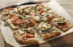 Grilled Vegetable and Goat Cheese Pizza