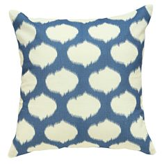 Ikat Cushion Cover Blue from Domayne