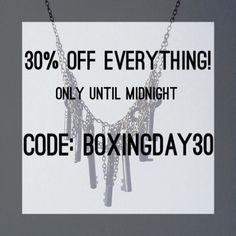 30% off EVERYTHING!!!! Only until midnight. Use code: BOXINDAY30  #necklace #jewellery #sale #crystals #gems #quartz #gothic #flashsale #girl #alternative #fashion #womensfashion #discount #handmade #bestoftheday #giftideas #style #lilac #life #christmas #natural #pastel #photooftheday #silver #cute #instamood #picoftheday #instagood #instadaily #smile