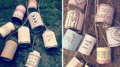 boites de conserve mariage vintage