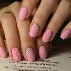 Accurate nails, Beautiful patterns on nails, Christmas nails, Fashion nails 2017, Ideas of gentle nails, Ideas of matte nails, Nails with rhinestones ideas, Natural nails