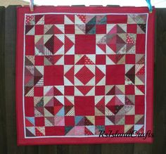 Red Pathways hand quilted  quilt | rsislandcrafts - Quilts on ArtFire