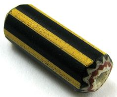 RARE Old Large Yellow Jacket Chevron Venetian Glass African Trade Bead | This is a rare beautiful bead from my collection. A LARGE LONG FIVE LAYER YELLOW JACKET CHEVRON VENETIAN GLASS AFRICAN TRADE BEAD. THIS BEAD IS IN VERY GOOD CONDITION. These beads are getting much harder to find in the markets today. GREAT FOR COLLECTORS. #tradebeads