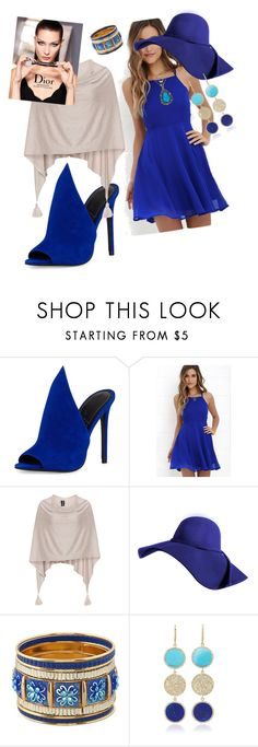"""""""mule blues"""" by kkornak on Polyvore featuring Kendall + Kylie, LULUS, Samoon and Tori Hill"""