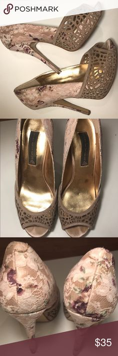 Steve Madden size 10 Lace and cut out Detail heels Steven by Steve Madden Shoes Heels