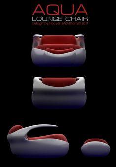 Aqua Lounge Chair Design by Pouyan Mokhtarani