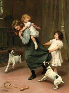 Pick-a-back-Arthur John Elsley (1860 – 1952, English)