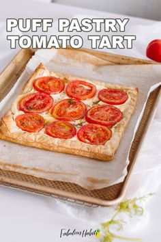 This puff pastry tomato tart makes for the perfect appetizer. Impress your guests with this easy starter!